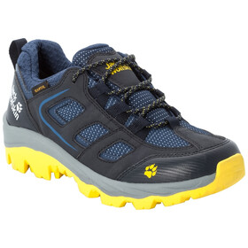 Jack Wolfskin Vojo Texapore Low Shoes Kids dark blue/yellow